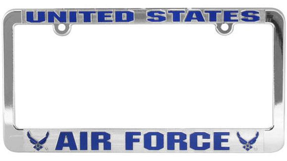 U.S. Air Force Metalized Plastic License Plate Frame