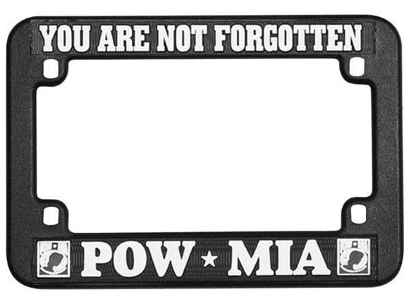 POW - MIA - You Are Not Forgotten Black Plastic Motorcycle Frame