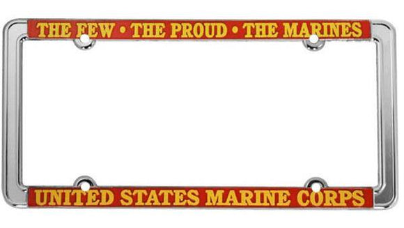 U.S.M.C. - The Few, The Proud, The Marines Thin Rim License Plate Frame