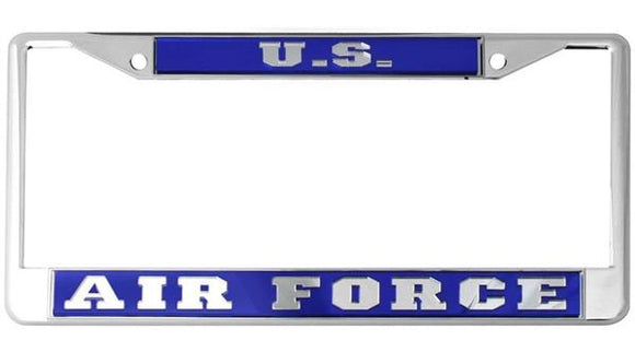 U.S. Air Force Mirror Inlaid License Plate Frame