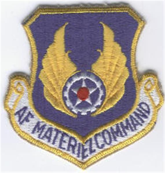 Air Force Materiel Command Patch - Full Color with HOOK Fastener