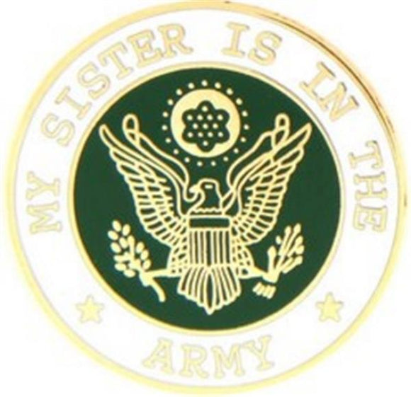 U.S. Army My Sister Small Hat Pin