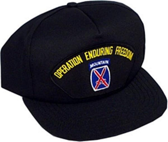 10th Mountain Operation Enduring Freedom Ball Cap