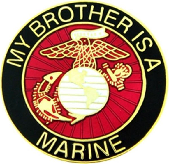 U.S. Marine My Brother Small Hat Pin