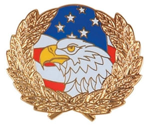 Eagle and Flag with Wreath Small Pin