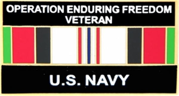 U.S. Navy Operation Enduring Freedom Small Pin