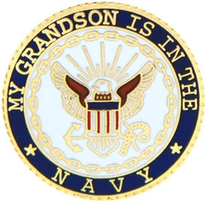 U.S. Navy My Grandson Small Pin