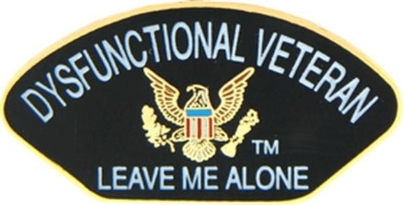 Dysfunctional Veteran Small Pin