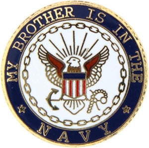 U.S. Navy My Brother Small Pin
