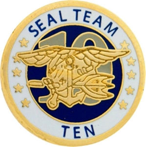 U.S. Navy Seal Team 10 Small Pin