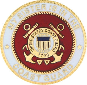 USCG My Sister Small Pin