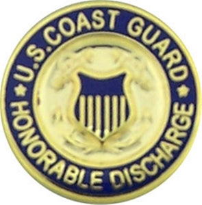 USCG Honorable Discharge Small Pin