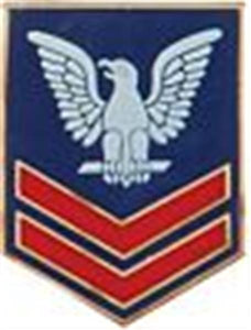 "E-5 PO-2nd Class Small Pin Size 1"" RED-BLUE finish"