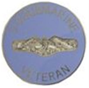 "Submarine Vet Small Pin Size 7-8"" Metal"