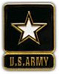 US ARMY STAR Small Hat Pin 1""