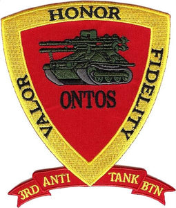 "3rd Anti Tank Battalion ""VALOR HONOR FIDELITY"" USMC PATCH"