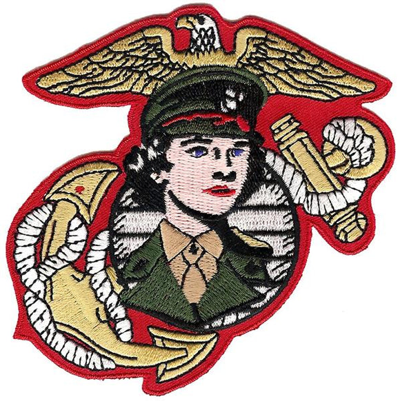 Women Marines Eagle Globe and Anchor USMC Patch