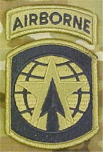 16th MP Brigade MultiCam  OCP Patch with Airborne Tab