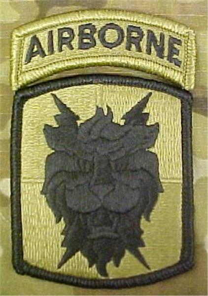 35th Signal Brigade Multicam  OCP Patch with Airborne Tab