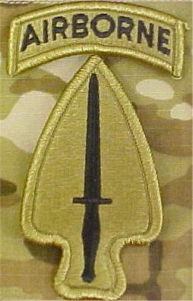Special Operations Command Multicam  OCP Patch with AIRBORNE TAB