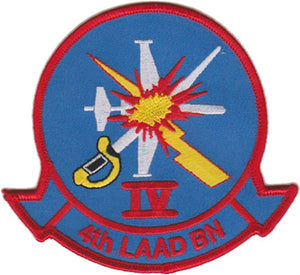 "4th LAAD BN ""IV"" USMC Patch"
