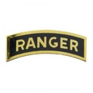 Ranger Tab Black Small Hat Pin
