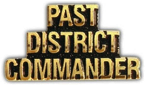 PAST DISTRICT COMMANDER Small Hat Pin