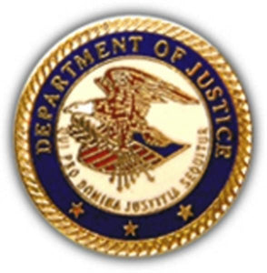 Department Of Justice Logo Small Hat Pin