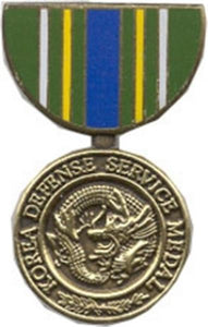 Korean Defense Service Mini Medal Small Pin