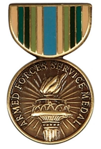 Armed Forces Service Mini Medal Small Pin