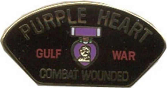 Gulf War Purple Heart Small Hat Pin