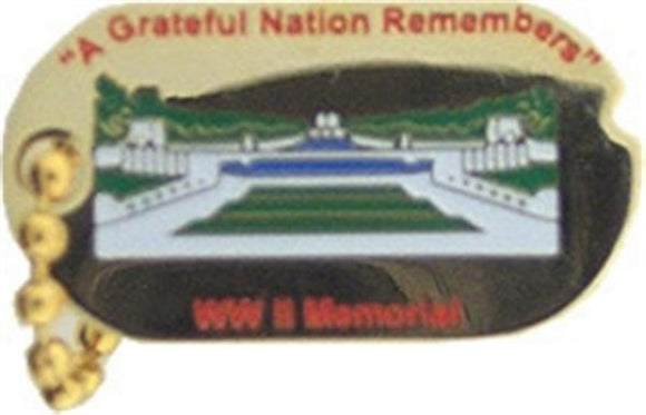WW II Memorial Dog Tag Small Hat Pin