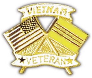 US Flag-Vietnam Veteran Flag Small Hat Pin