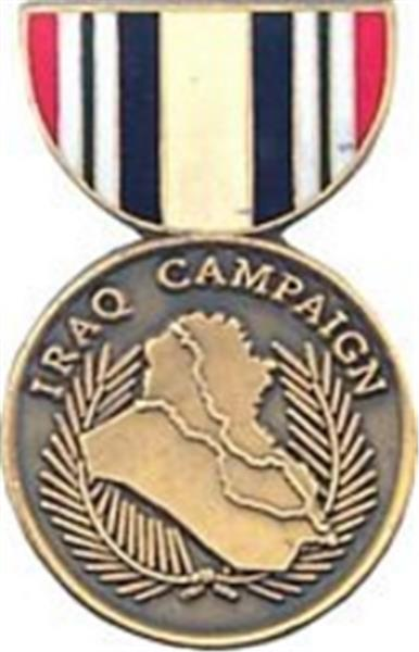Iraq Campaign Mini Medal Small Pin