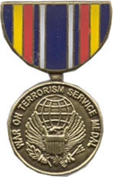 War On Terrorism Service Mini Medal Small Pin