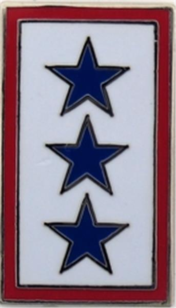 3 Blue Star Service Flag Small Hat Pin
