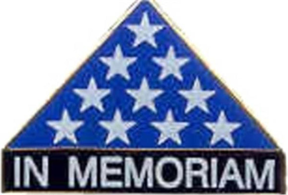 In Memoriam Flag Small Hat Pin