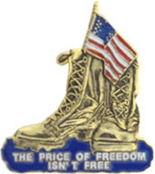Freedom Is Not Free Boots Small Hat Pin