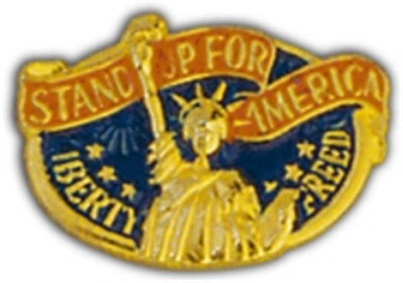 Stand Up America Small Hat Pin