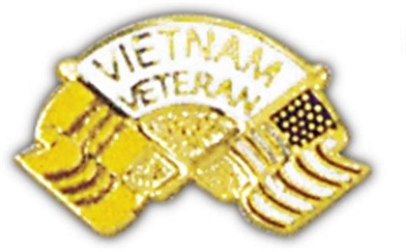 US Flag-Vietnam Veteran Small Hat Pin