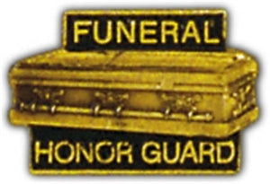 Funeral Honor Guard Casket Small Hat Pin