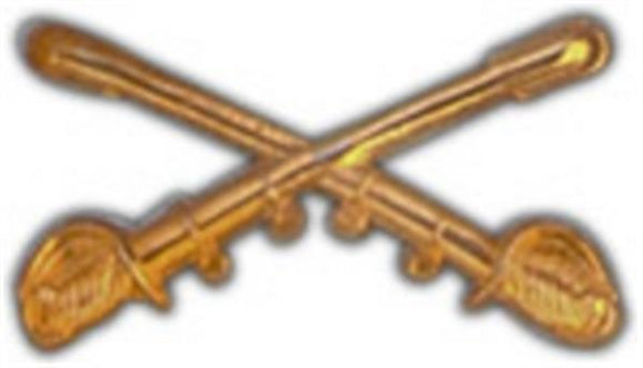 Crossed Cavalry Sabers Small Hat Pin