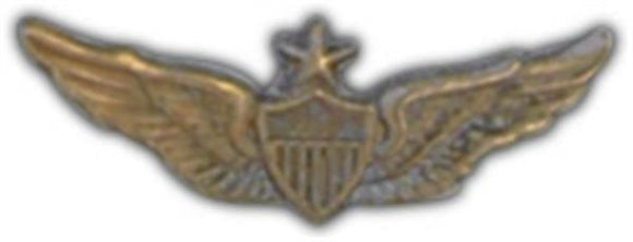 Senior Aviator Wings Small Hat Pin