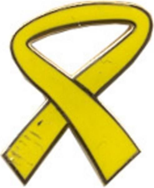 Yellow Ribbon Small Hat Pin