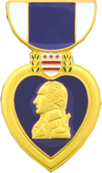 Purple Heart Medal Large Pin