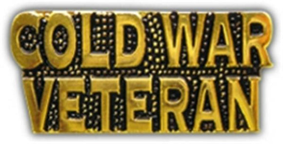 Cold War Veteran Letters Small Hat Pin