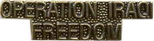 Operation Iraqi Freedom Letters Small Hat Pin