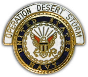 Desert Storm Navy Logo Small Hat Pin