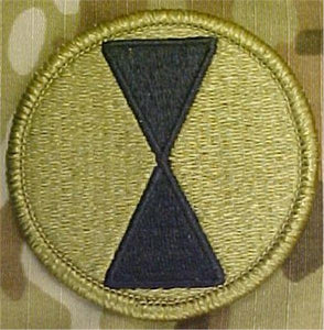 7th Infantry Division MultiCam  OCP Patch