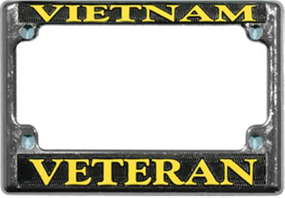 Vietnam Veteran Motorcycle License Plate Frame - Metal
